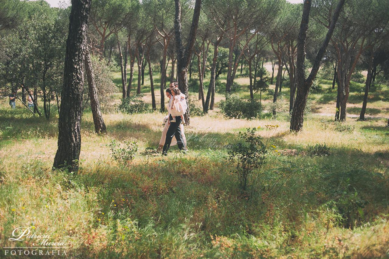 boda íntima en el bosque Patricia Murcia Fotografía