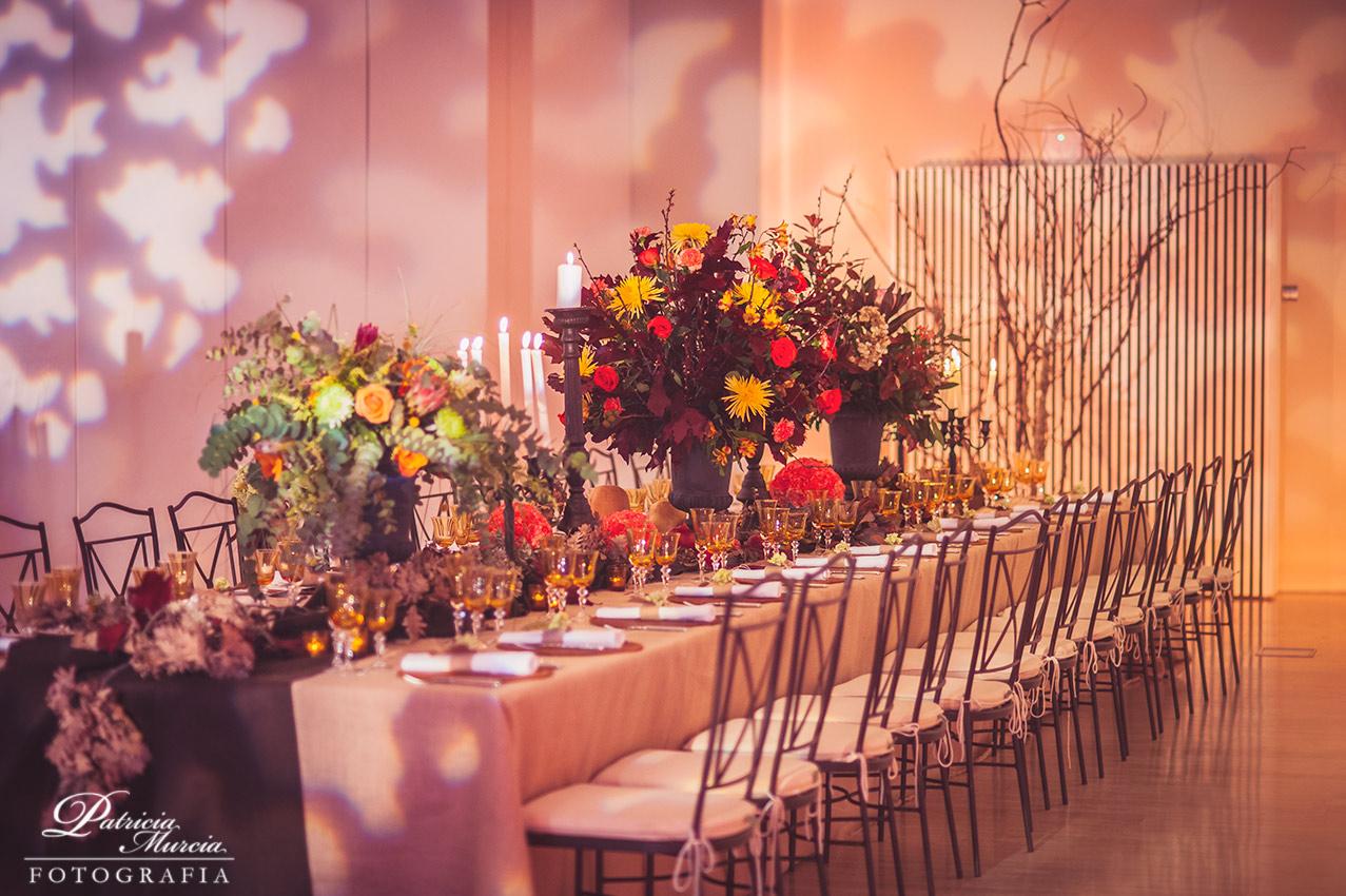 Decoración de una boda en otoño