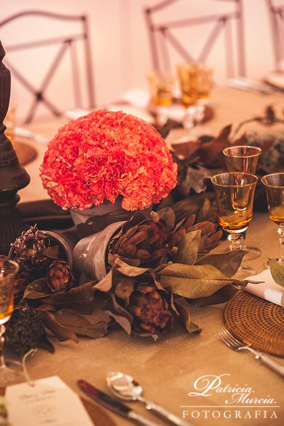 decoración de una boda en otono