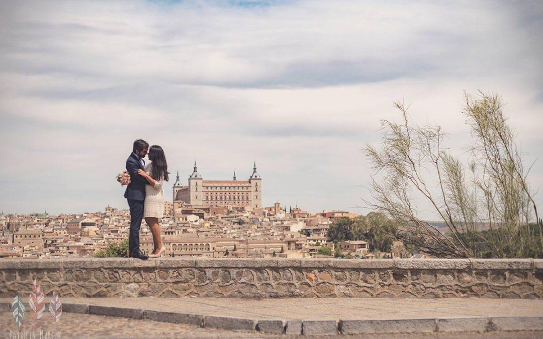 Boda civil en Toledo, la boda de Mary y Hector